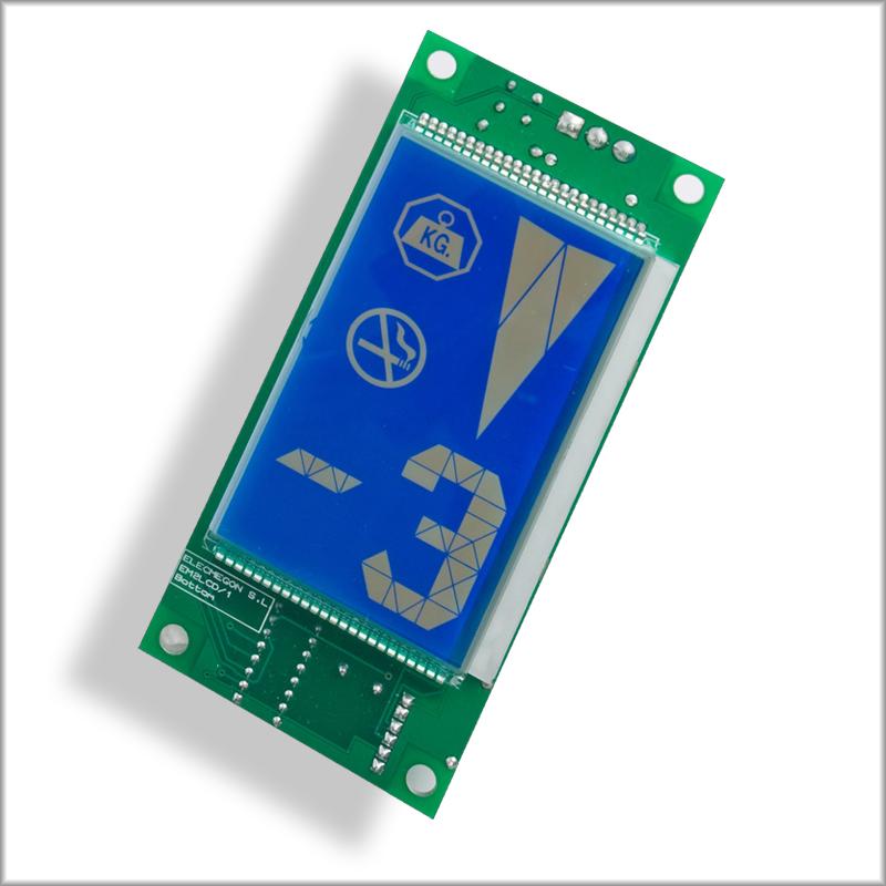 EM2LCD Azul Vertical